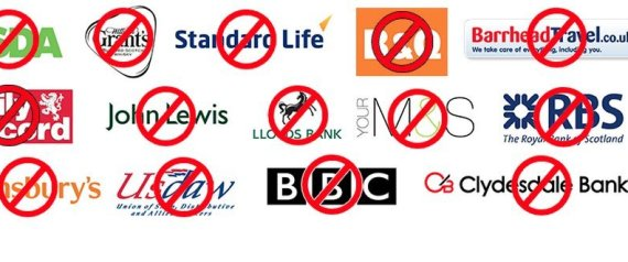 Boycotted companies Scotland